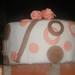 Pink Brown Fondant cake