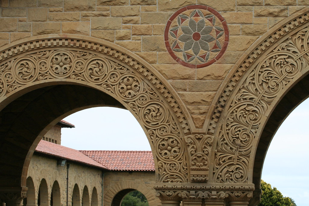 Stanford University Main Quadrangle architecture closeup Flickr