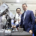 Premier Dalton McGuinty tours MacDonald, Dettwiler and Associates (MDA), the creators of the 'Canada Arm', in Brampton. The Premier celebrated how Ontario is competing globally, building a high-wage economy with good jobs