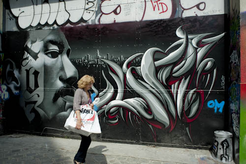 Painted Street Walls Street Scene Painting