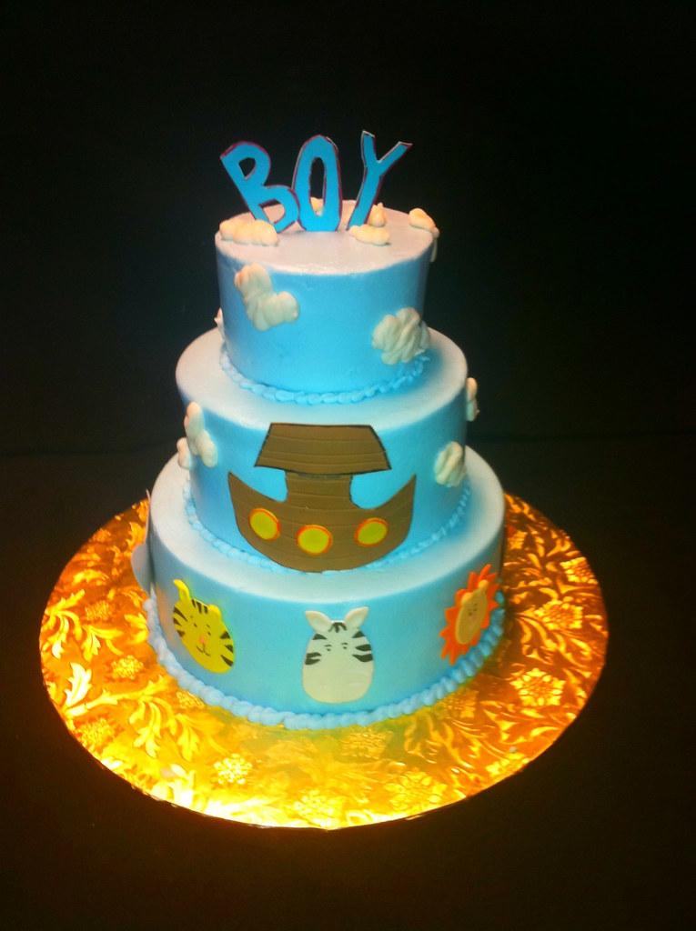 noah's ark baby shower cake  christie  flickr, Baby shower invitation