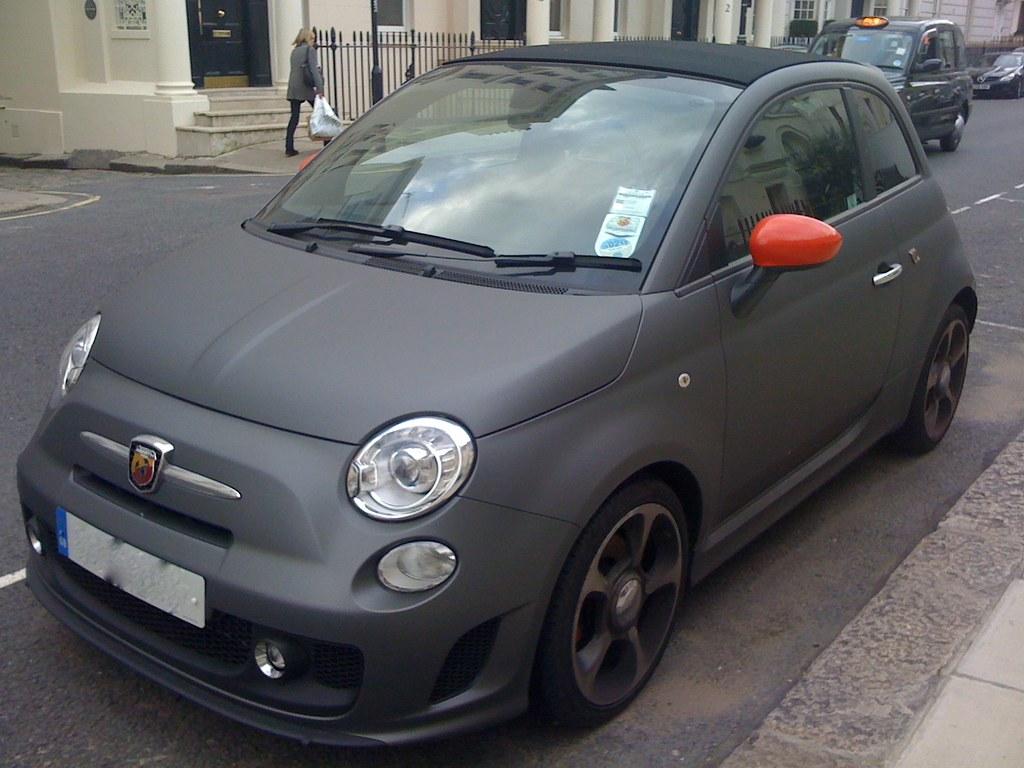 Fiat 500 Abarth Matte Black Ben Flickr