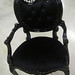 4215 BLACK LACQUER HOLLYWOOD REGENCY CHAIR