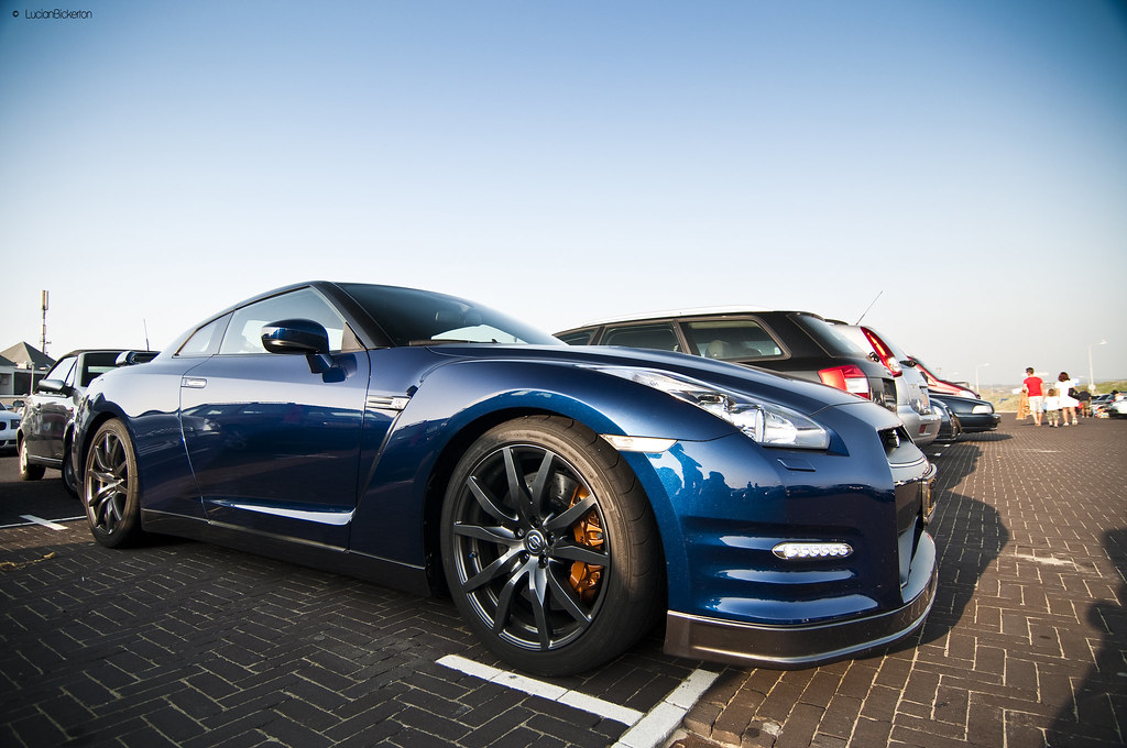 blue sky blue car explored nissan gtr 2011 in