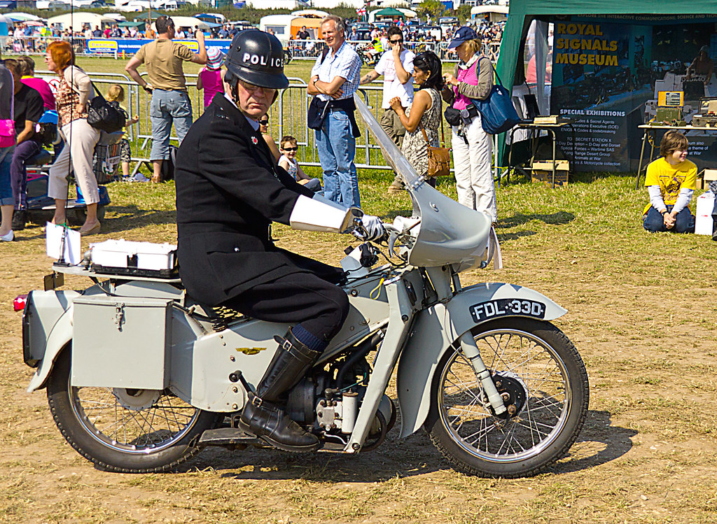The Police On A Noddy Bike 1966 Velocette Le 192cc Noddy