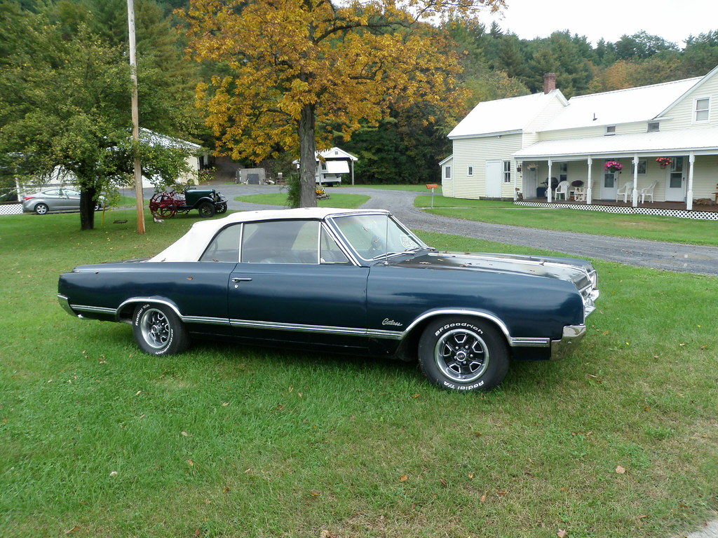 1965 Olds Cutlass F85 Convertible. For sale Warrensburg NY. | by RED GATES.