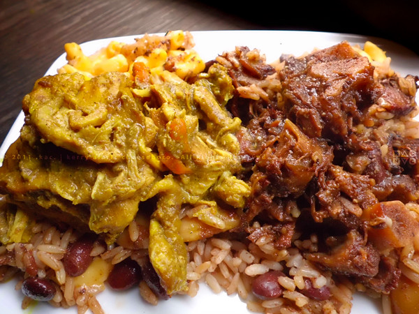 Curry Chicken Oxtails Red Beans Rice Macaroni Chees Flickr