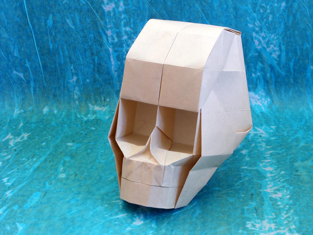 skull hojyo takashi model origami skull with 3d eye