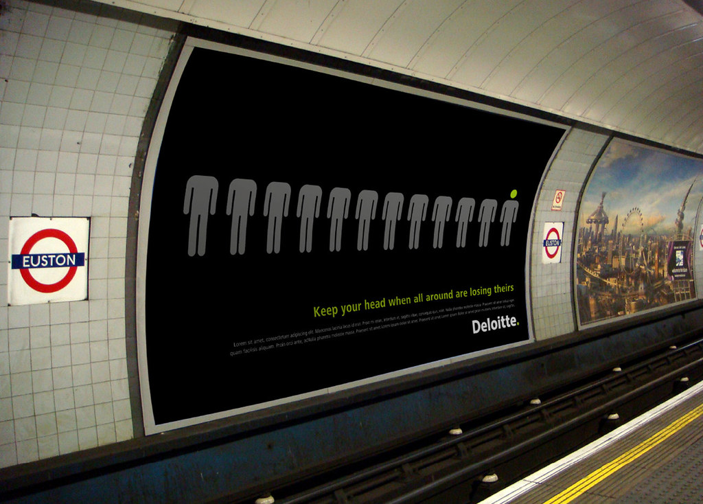 Subway Billboard Uk Deloitte Touche Tohmatsu Limited
