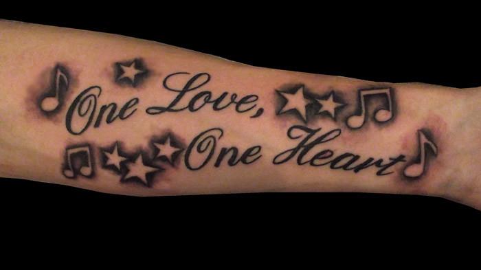 Lyrics Stars And Music Note Tattoo Chris Hatch Tattoo Art Flickr