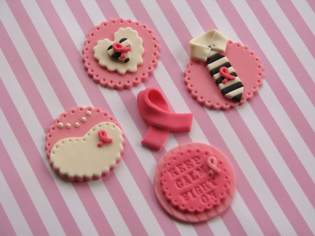 Breast Cancer Awareness Cupcake Toppers Breast Cancer