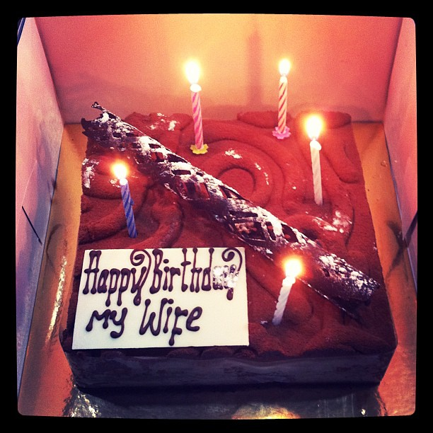 Birthday Cake Images For My Wife : Wife s birthday cake #epriyanto #iphonesia #iphoneography ...