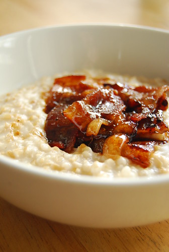 Steel Cut Oats with Muscovado Glazed Bacon | by 80 Breakfasts