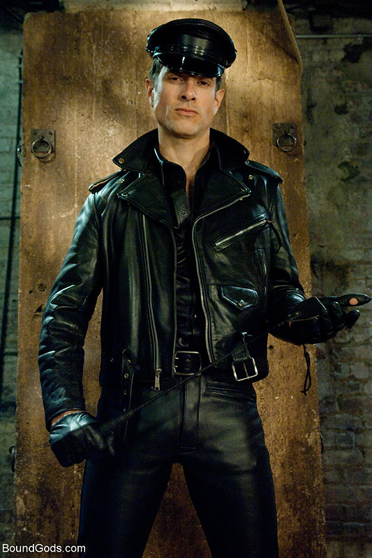 Gay in leather man