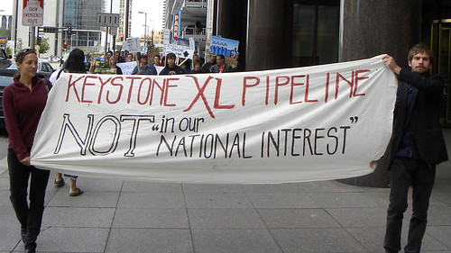 Protest against the proposed KeystoneXL tar sands pipeline | by Fibonacci Blue