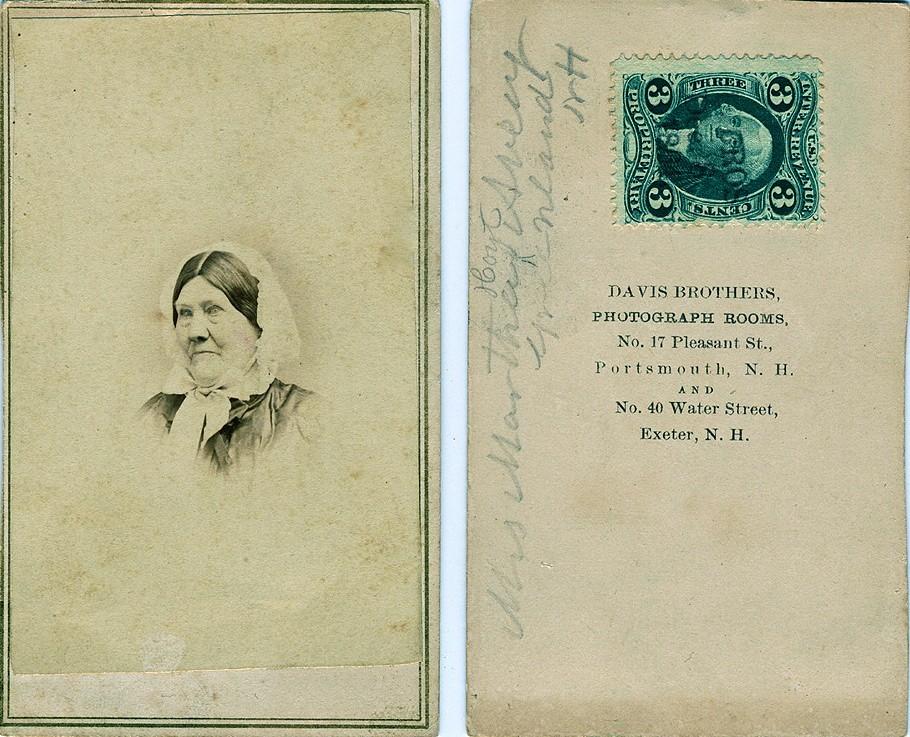 1864 Martha Hoyt Avery Albumen Carte De Visite With Tax Stamp Canceled 8 December
