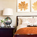 Autumn-Decorating-Ideas-Beige-and-Rust-red-orange-fall-inspired-Bedroom-with-framed-leaf