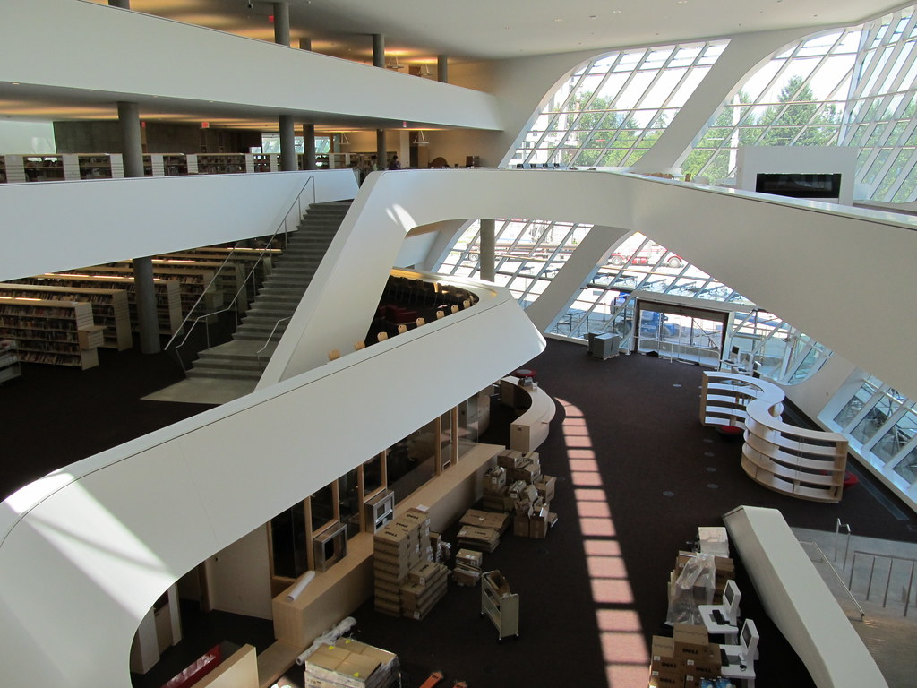 birds eye view inside the new surrey city centre library. Black Bedroom Furniture Sets. Home Design Ideas