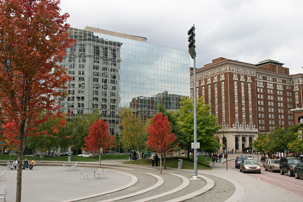 Scene Of Rosa Park Circle And