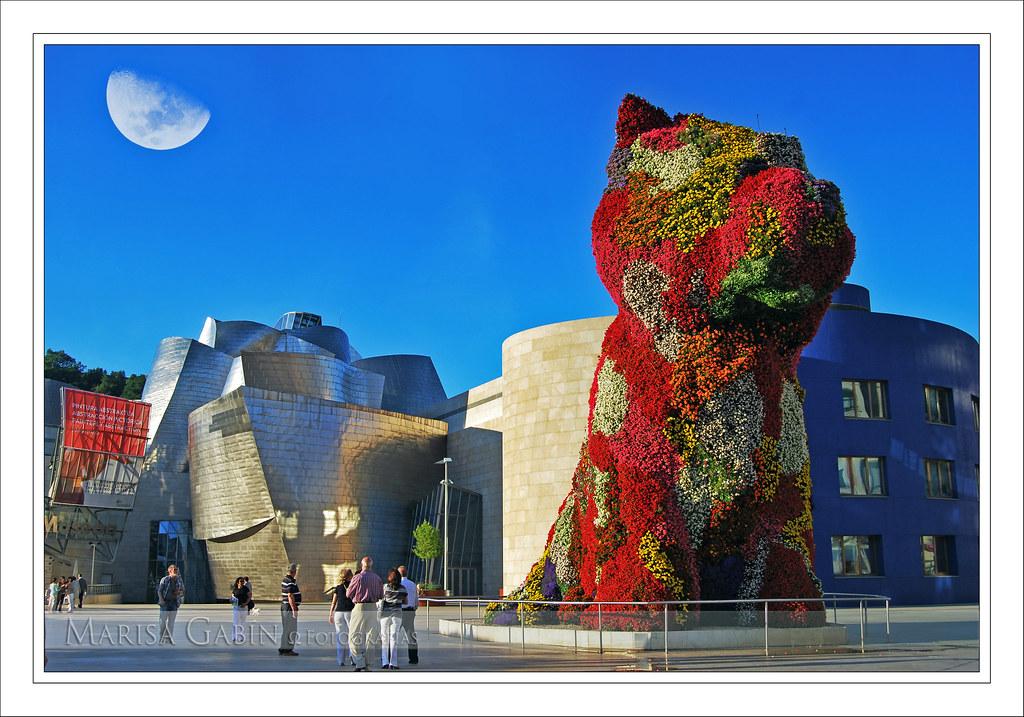 Fantasía de luna... y Puppy (Museo de Guggenheim), Bilbao