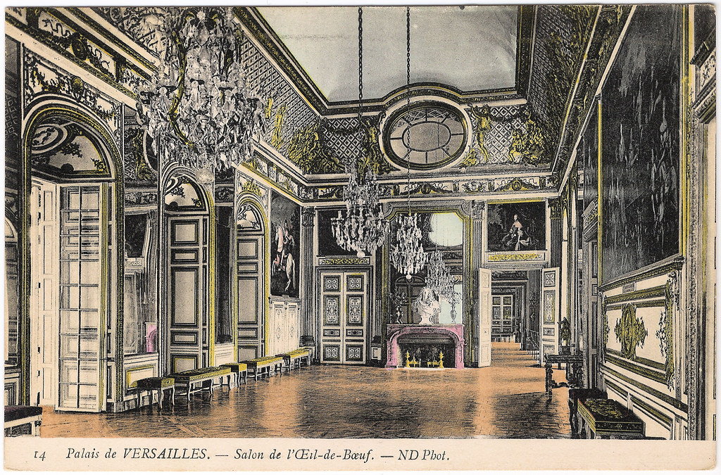 Versailles salon de l 39 oeil de boeuf a postally unused for Salon de l erotisme a metz