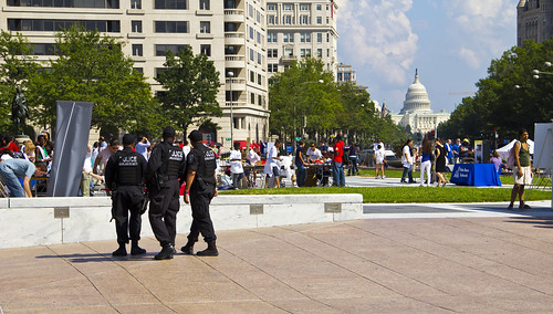 2011 09 11 - 6749 - Washington DC - Police Officers at Freedom Plaza | by thisisbossi
