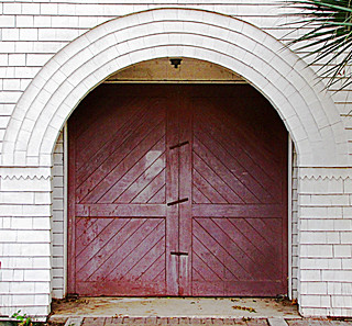 Old doors and entry arch | by john.fisch