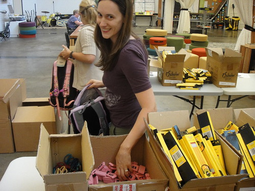Backpack Donation with Schoolhouse Supplies at Woodlawn Elementary (2) | by KEEN Footwear