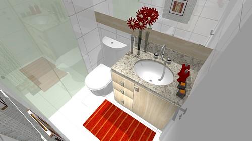 Pequeno Banheiro Social 1  Projeto de um pequeno banheiro n…  Flickr -> Banheiro Pequeno Social