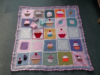 Thank you to all the Ladies who have contributed to the 'Cupcake Blanket'. 'Please add note if you see your Square'. I love your Squares Thank You! | by MRS TWINS/SIBOL 'Sunshine International Blankets
