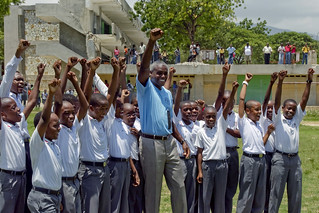 FAO Ambassador Carl Lewis Visits Haiti | by UN Office on Sport for Development and Peace