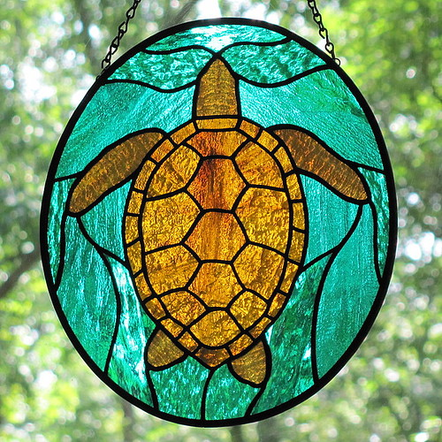 25 Modern Ideas To Use Stained Glass Designs For Home: The Golden Amber Glass That I