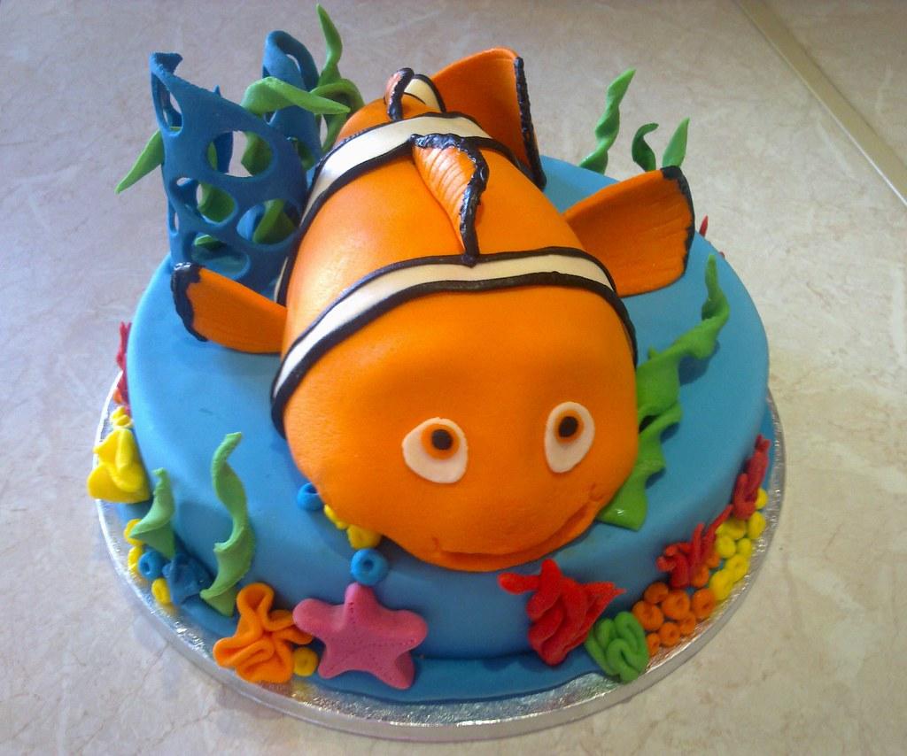Outstanding Nemo Birthday Cake Ks Fondant Cakes Flickr Funny Birthday Cards Online Drosicarndamsfinfo