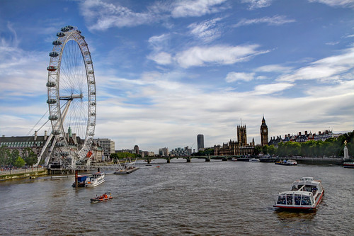 The London Eye, tallest Ferris wheel in Europe | by **Anik Messier**