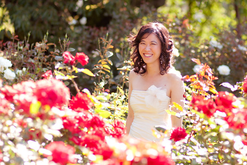 Bride in Rose Garden | by ToastyKen