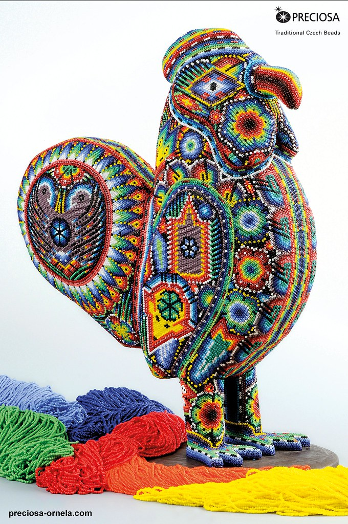The Huichol Art With Preciosa Seed Beads Rooster Flickr