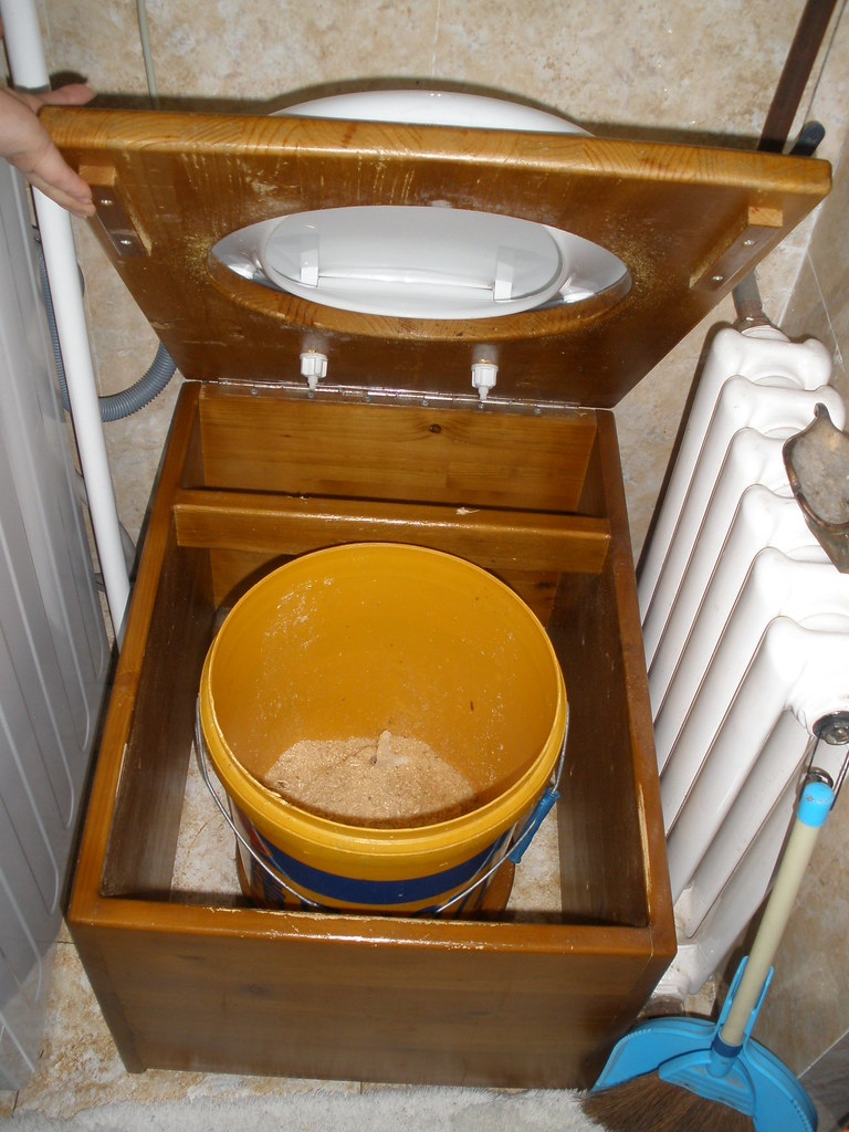 Humanure Dry Toilet Inside View Mongolian Family House U