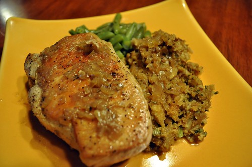 Pan-Seared Pork Chop with Cider Sauce | by swampkitty
