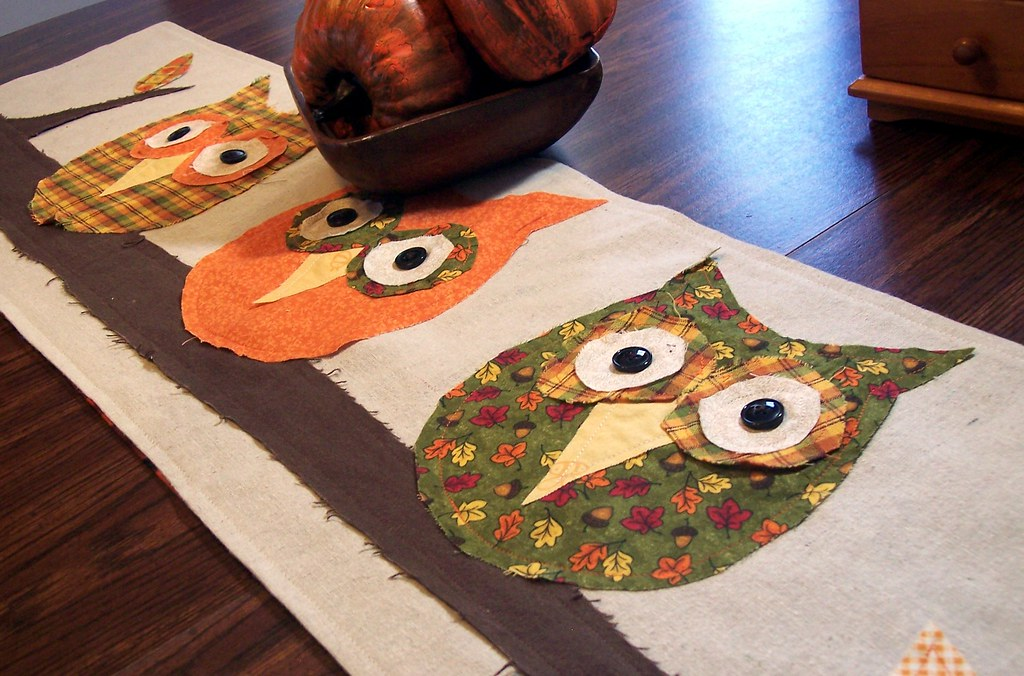 ... Owls Out On A Limb Fall Table Runner   By The Prairie Cottage