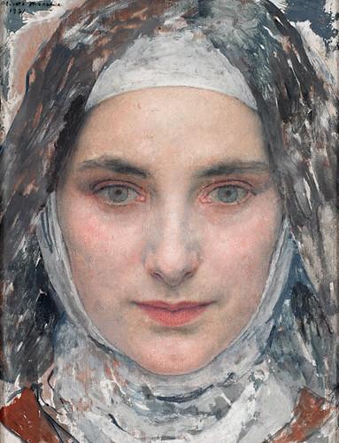 Tête de jeune fille (1932)  Edgar maxence (Nantes 1871