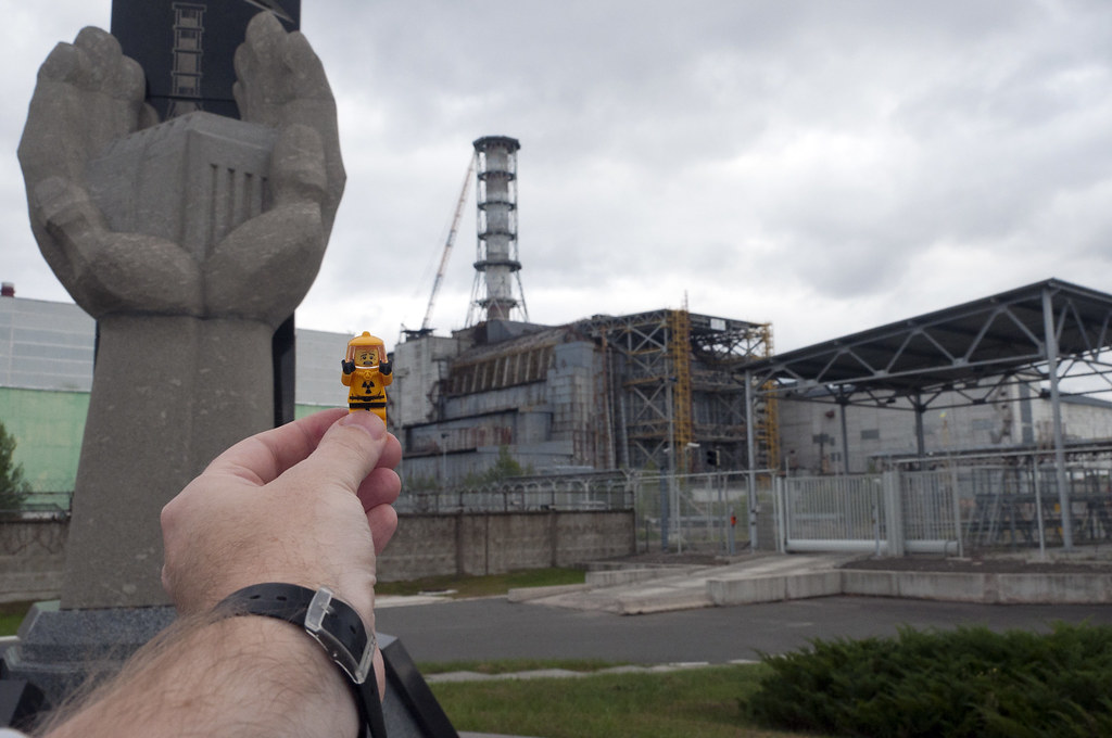 Lego Hazmat minifig travels to Reactor 4 in Chernobyl | Flickr