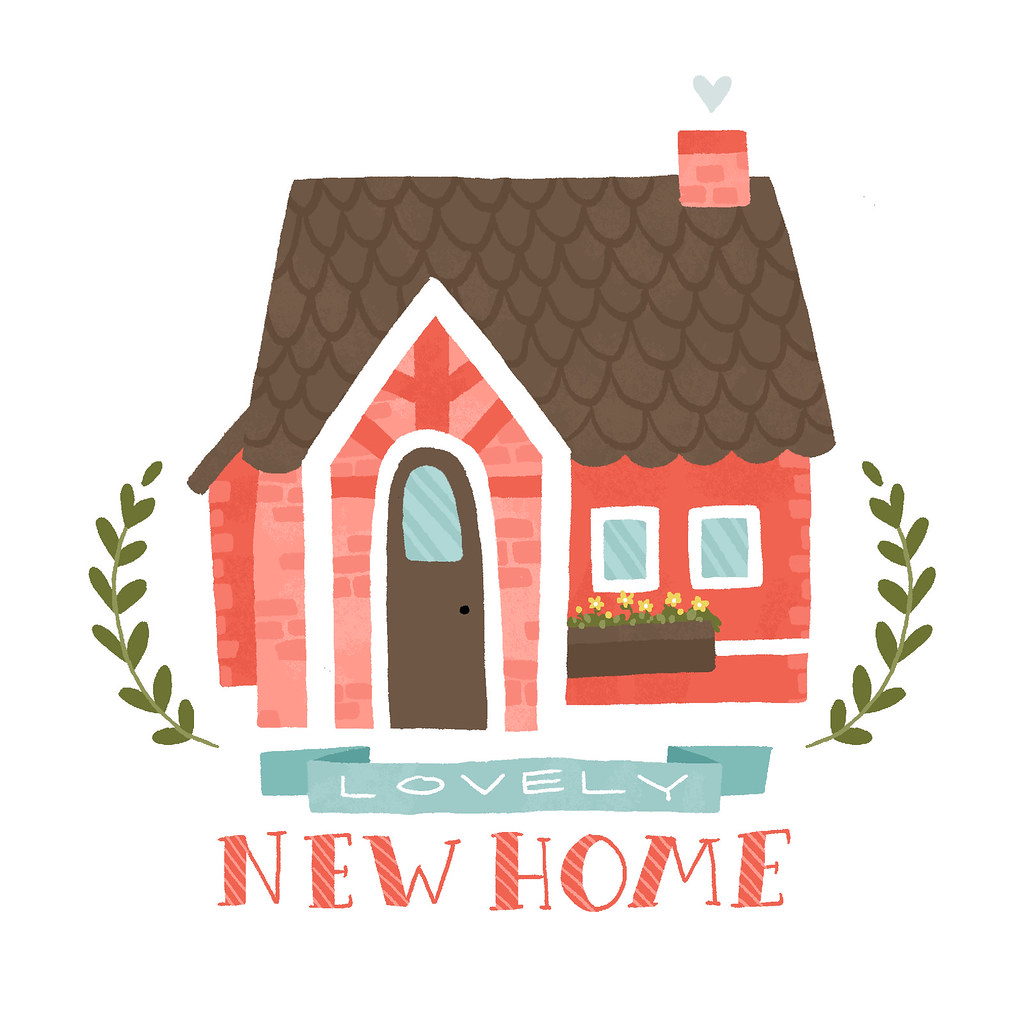 Lovely new home card ideas for a personal greeting card for Latest home