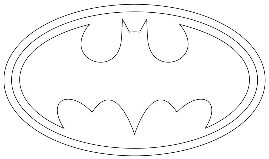 batman logo coloring pages - photo#8