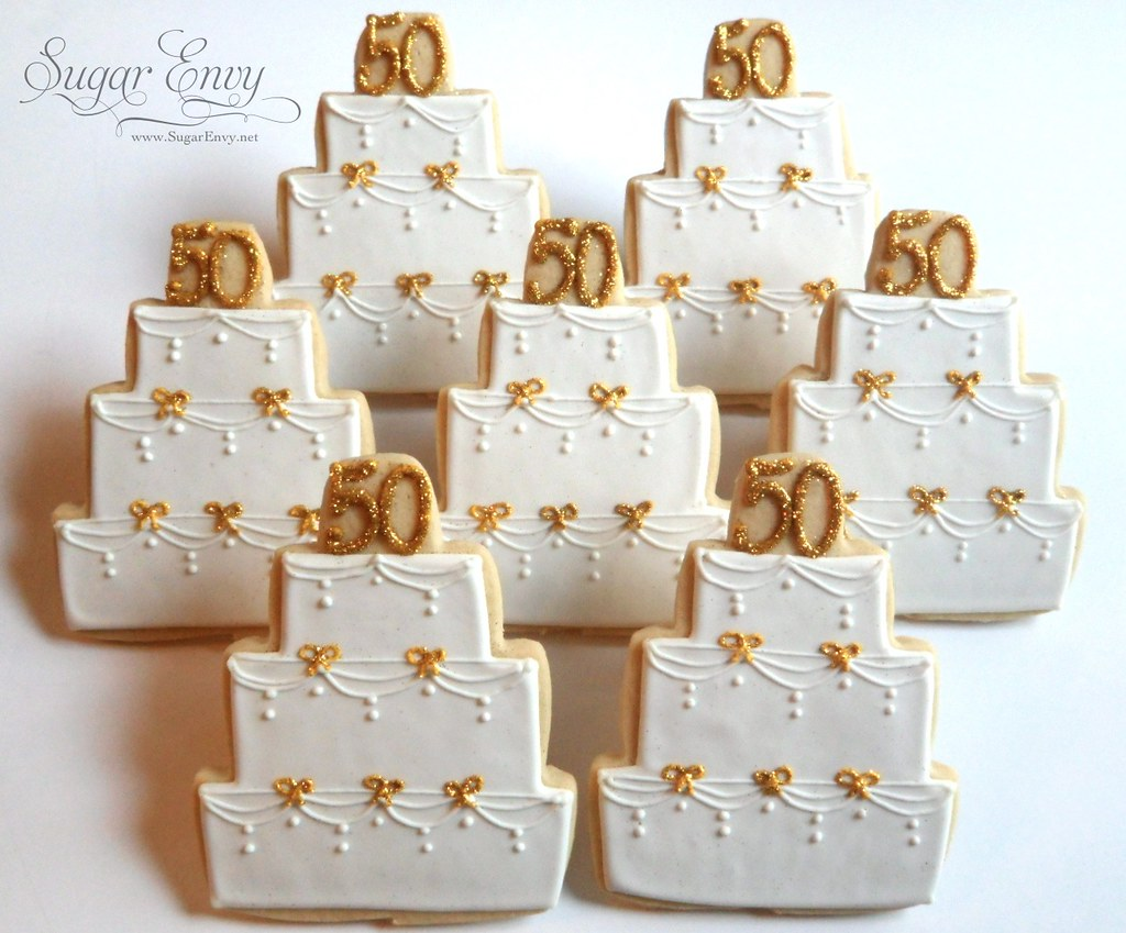 50th Wedding Anniversary Cookie Favors