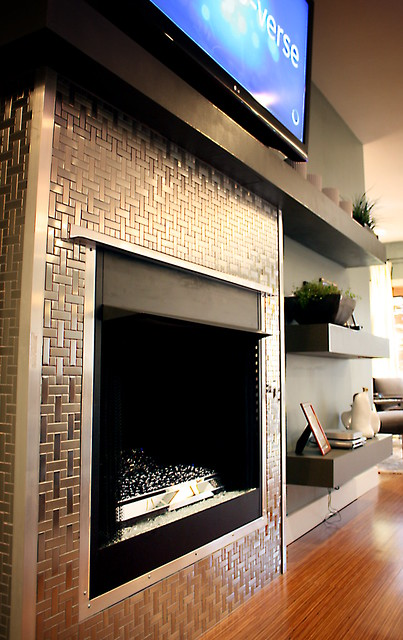 Stainless Steel Tile Fireplace Surround Flickr Photo Sharing