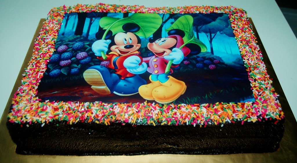 Mickey Mouse Cake Edible Image Dazzling Cakes Flickr