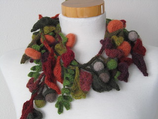 Autumn Scarf with Acorns and Pumpkins | by Just-Do