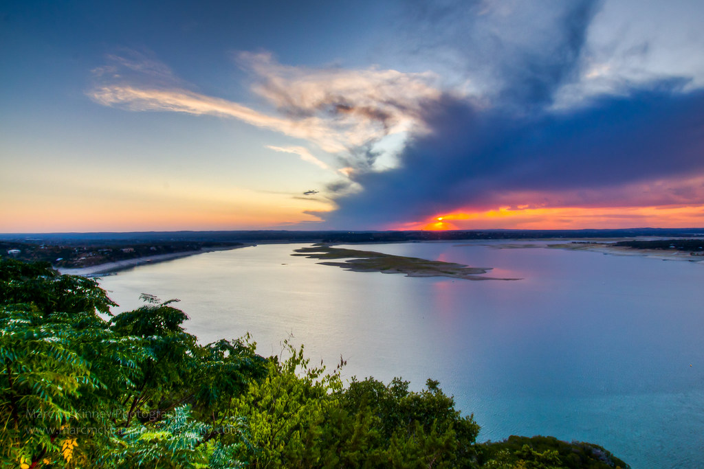 Lake Travis Austin Texas As Seen From The Oasis Resta