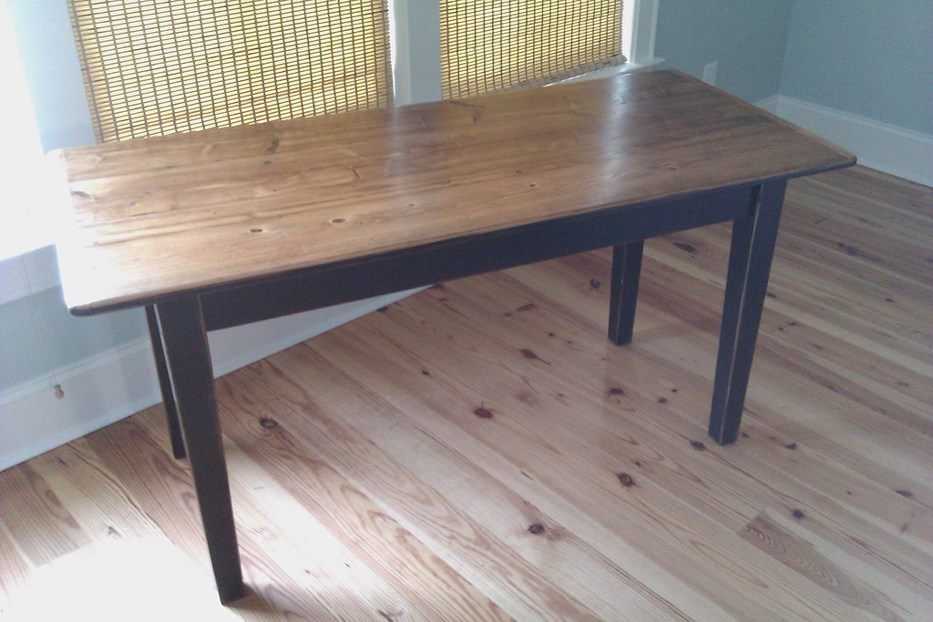 ... Farm Table Of Reclaimed Wood With Shaker Style Legs   By DesignFolly.com