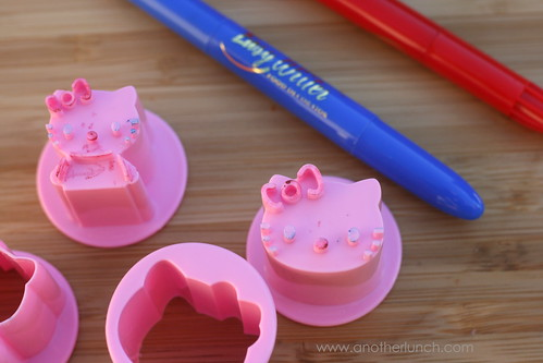 Hello Kitty veggie cutters | by anotherlunch.com